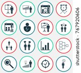 authority icons set with... | Shutterstock .eps vector #767920606