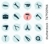 tools icons set with saw ...   Shutterstock .eps vector #767920966