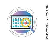 online security gradient color... | Shutterstock .eps vector #767921782