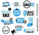 sale stickers collection. sale... | Shutterstock .eps vector #767922676