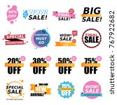 sale stickers collection. sale... | Shutterstock .eps vector #767922682