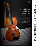 the classical music concept... | Shutterstock .eps vector #767923672