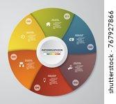 6 steps process. simple... | Shutterstock .eps vector #767927866