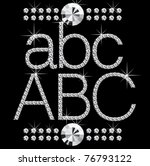 vector diamond letters with... | Shutterstock .eps vector #76793122