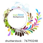 round white background with a... | Shutterstock .eps vector #76793248