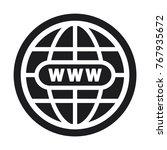 illustration world icon  vector ... | Shutterstock .eps vector #767935672