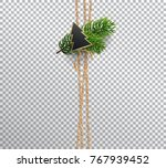 vertical linen rope for... | Shutterstock .eps vector #767939452
