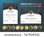 certificate template with... | Shutterstock .eps vector #767939542