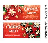 invitation merry christmas... | Shutterstock .eps vector #767940175