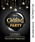 merry christmas party and ball...   Shutterstock .eps vector #767940718