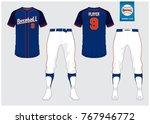 baseball uniform  sport jersey  ... | Shutterstock .eps vector #767946772