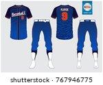 baseball uniform  sport jersey  ... | Shutterstock .eps vector #767946775