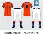 baseball uniform  sport jersey  ... | Shutterstock .eps vector #767946778