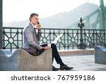 mature businessman with... | Shutterstock . vector #767959186