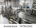 steel tanks for mixing liquid.... | Shutterstock . vector #767961562