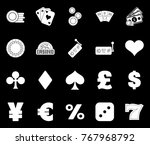 casino icons set | Shutterstock .eps vector #767968792