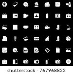 multimedia icons set | Shutterstock .eps vector #767968822