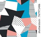 the memphis pattern. trending... | Shutterstock .eps vector #767971486