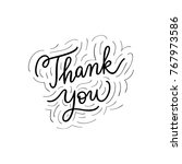 thank you sign. simple... | Shutterstock .eps vector #767973586