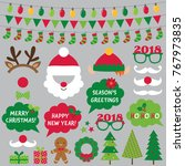 christmas and new year vector... | Shutterstock .eps vector #767973835