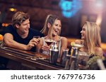 picture showing group of... | Shutterstock . vector #767976736