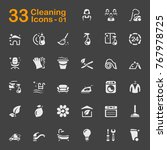 cleaning vector icons for... | Shutterstock .eps vector #767978725