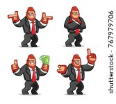 vector set of businessman... | Shutterstock .eps vector #767979706