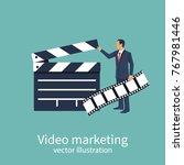 movie clapper board. video... | Shutterstock .eps vector #767981446
