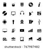 media icons set | Shutterstock .eps vector #767987482