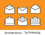 mail icon set. user interface...