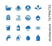 clean water silhouette vector... | Shutterstock .eps vector #767996752