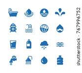 clean water silhouette vector... | Shutterstock .eps vector #767996752