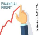 finger drawing growth chart.... | Shutterstock .eps vector #767996776