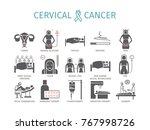 cervical cancer. symptoms ... | Shutterstock .eps vector #767998726