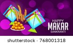 vector illustration of a banner ... | Shutterstock .eps vector #768001318