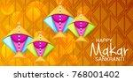 vector illustration of a banner ... | Shutterstock .eps vector #768001402