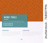 work tools concept with thin... | Shutterstock .eps vector #768007996