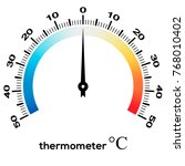 circular thermometer with... | Shutterstock .eps vector #768010402