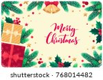 christmas horizontal template... | Shutterstock .eps vector #768014482