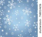 vector seamless snowflake... | Shutterstock .eps vector #768014656