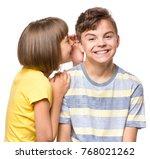 friendship   beautiful girl... | Shutterstock . vector #768021262