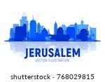 jerusalem  israel silhoutte... | Shutterstock .eps vector #768029815