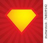 superhero logo template. vector ... | Shutterstock .eps vector #768039142