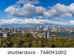 rotterdam cityscape  ... | Shutterstock . vector #768041002