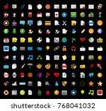 education icons set | Shutterstock .eps vector #768041032