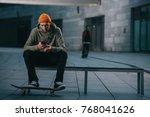 skateboarder in modern...   Shutterstock . vector #768041626
