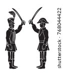 image hussar duel   Shutterstock .eps vector #768044422