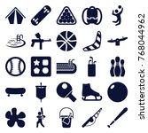 set of 25 recreation filled... | Shutterstock .eps vector #768044962