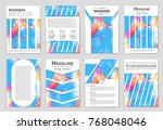 abstract vector layout... | Shutterstock .eps vector #768048046