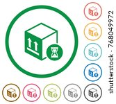 package delivery in progress... | Shutterstock .eps vector #768049972